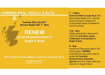 Common Weal: RENEW – Local Empowerment in Argyll & Bute