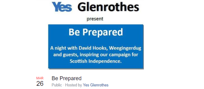 Glenrothes : 'Be Prepared'  with David Hooks, Carol Gilmour & Paul Kavanagh